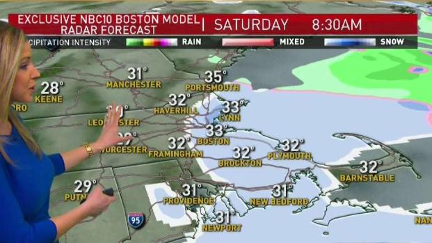 [NECN] Early Morning Snow Showers Depart, Wind Gusts Continue