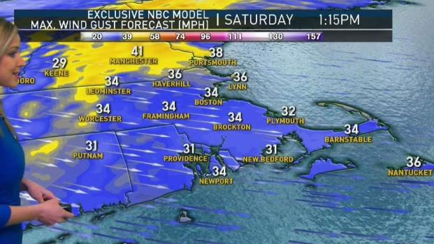 [NECN] Sunny, Windy Saturday as Snow Showers Leave New England