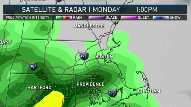 [NECN] Showers Sweep in Monday