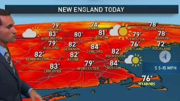 [NECN] Warm Sunday, Hot and Humid Labor Day