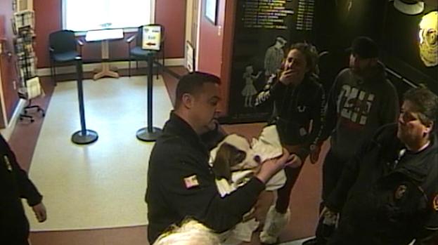 [NATL-NECN] WATCH: Choking Puppy Saved in Dramatic Rescue