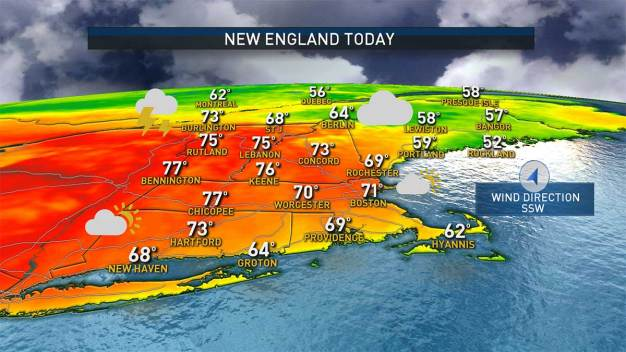 Warmer Today; Chance of Showers Later