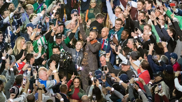 Timberlake Makes Super Bowl Selfie Kid Cry With New Surprise