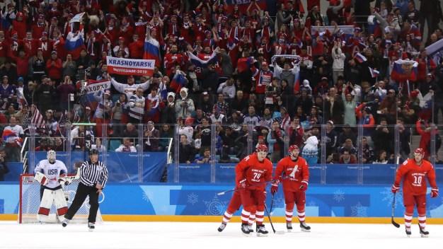 Russians Crush US Men's Hockey 4-0 in Scrappy Game
