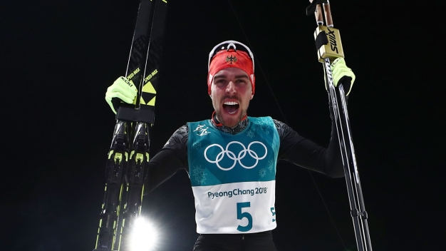 German Men Sweep Large Hill Nordic Combined