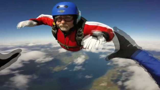 Skydiver Back in the Air Following Heart Transplant