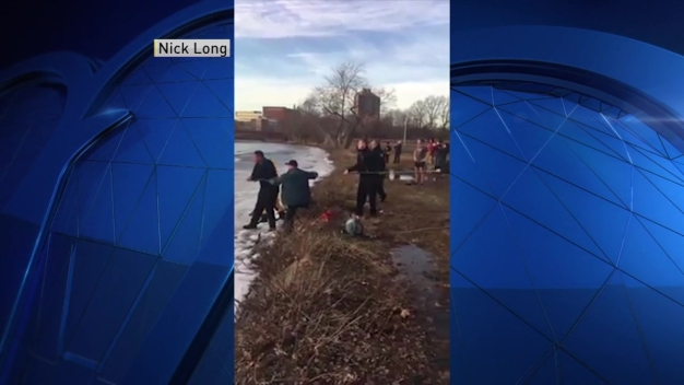 Dog Rescued Out of Charles River