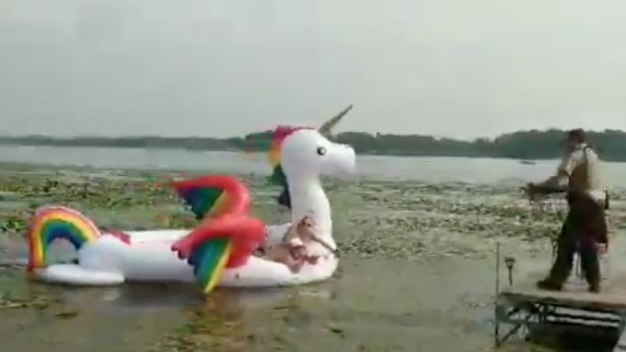 Deputies Reel in Women Stranded on Waterborne Unicorn