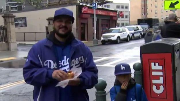 Dodgers Fans Make the Trip to Boston