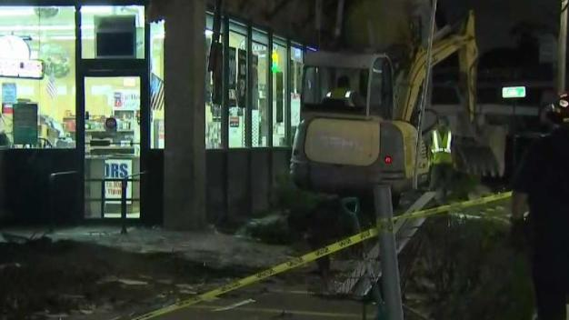 Facade of Liquor Store Collapses in Quincy