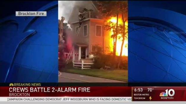 Families Saved Via Ladder From Brockton Mass Fire