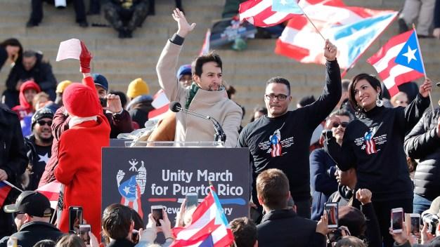 Lin-Manuel Miranda, Thousands March Through DC for Puerto Rico