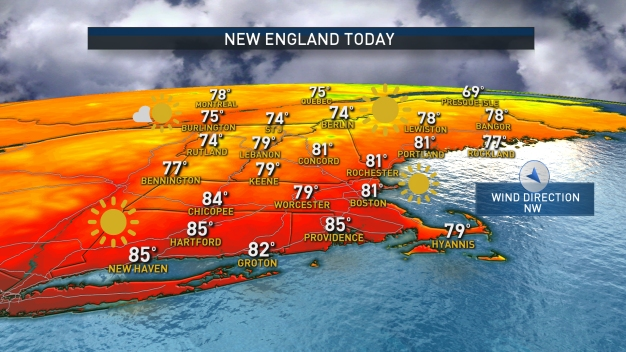 Cold Front in New England Before Chance of Rain