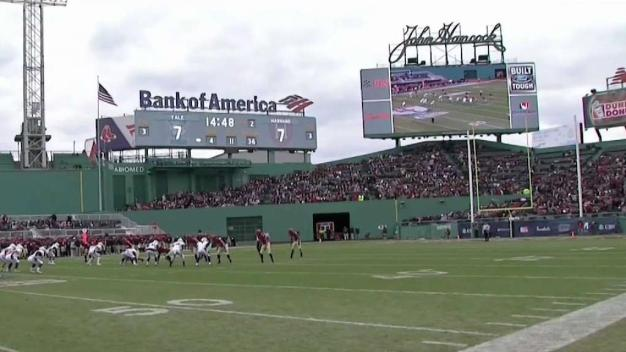 Sold-Out Crowd Watches Harvard Beat Yale at Fenway Park