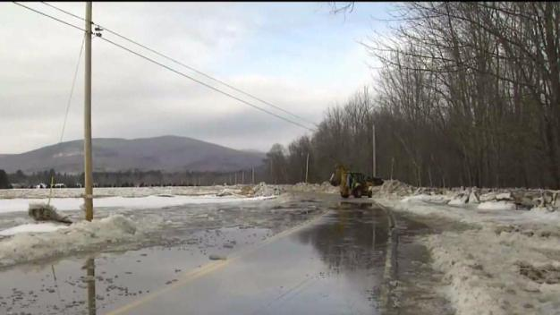 'It's Phenomenal': Ice Jam Floods Roads in Maine