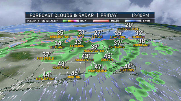 Spotty Rain and Mild Temps Friday; Snow for Some Saturday