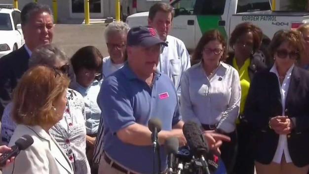 Local Lawmakers Visit Immigrant Processing Center at Texas Border