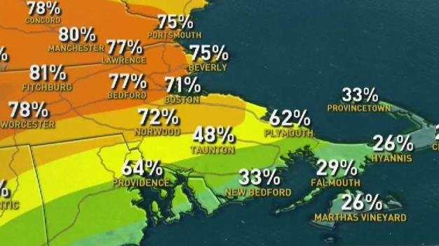 Humid Sunday, Chance of Late Storms