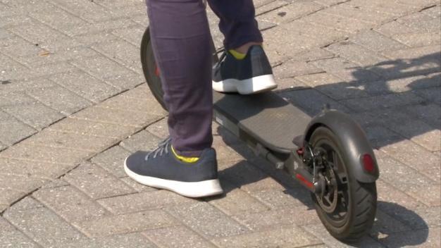 Burglar Makes Scooter Getaway