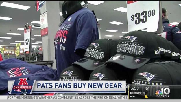 Patriots Fans Buy New AFC Champion Gear
