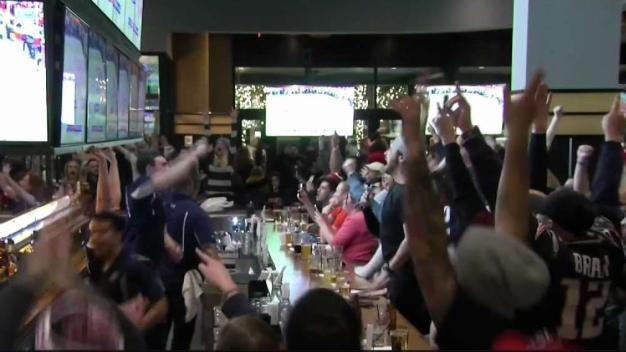 Pats Fans Celebrate Win Against Kansas City
