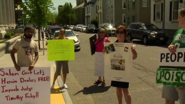 Protesters Rally Against Salem Judge