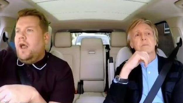 Today's Hubub: Carpool Karaoke with a Beatle