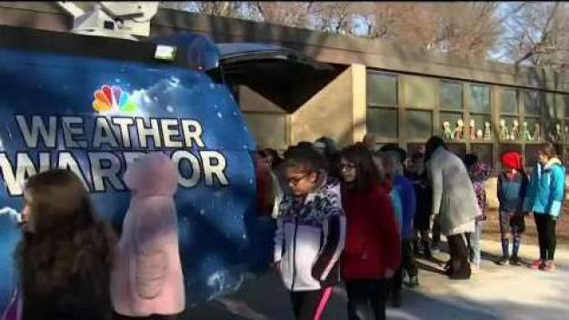 Weather Warrior Visits Bernazzani Elementary School