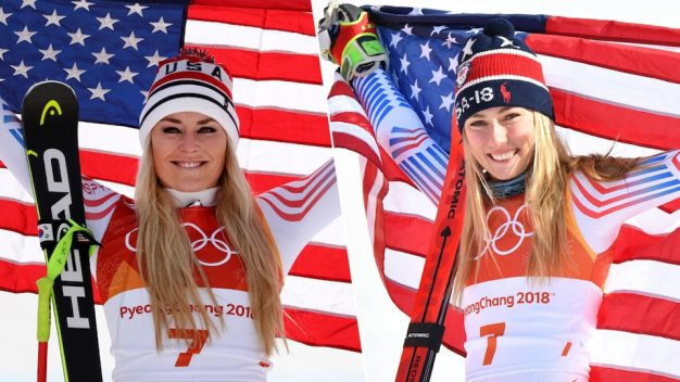 Vonn, Shiffrin in Medal Position for Alpine Combined