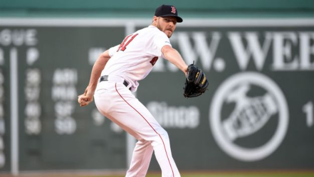 Red Sox LHP Sale Goes on IL with Left Elbow Inflammation
