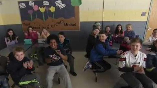 Cole School in Norwell Weather Warrior Visit