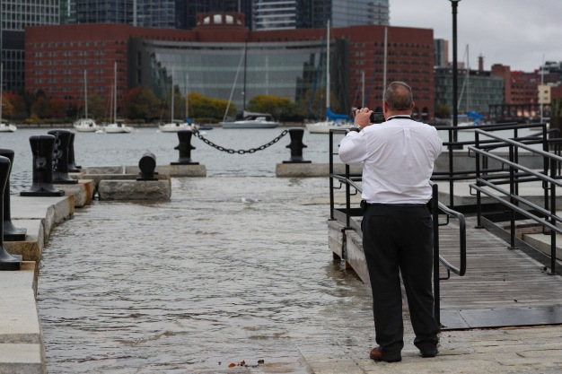 6 Great Images From Tuesday's King Tide on Boston's Long Wharf