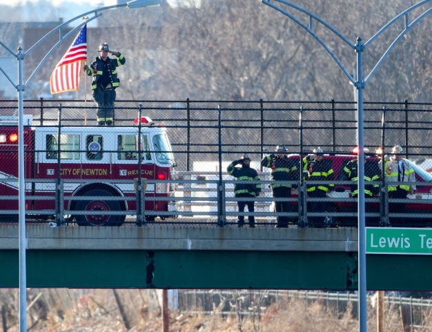 Firefighters Pay Their Respects to Fallen Comrade