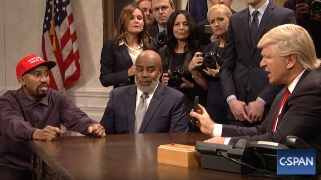 'SNL' Opens With Kanye West WH Visit; Meyers Returns as Host