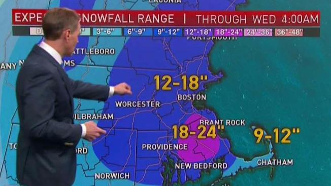 9 News Weather Map.Southeastern Massachusetts Could See 2 Feet Of Snow Nbc10 Boston