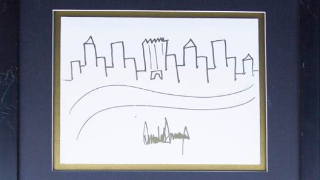 Trump's Manhattan Skyline Sketch Fetches Nearly $30000