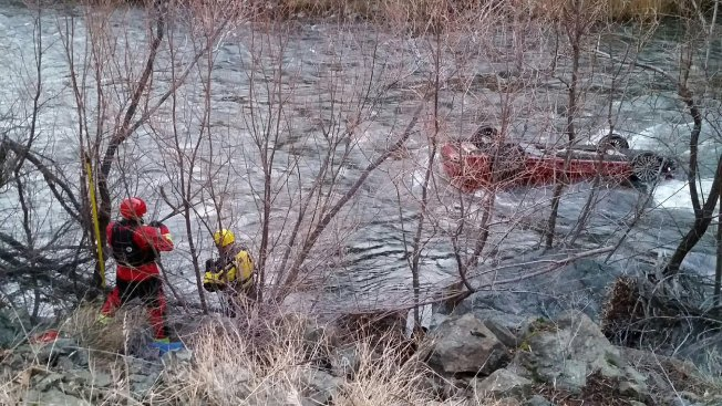 Driver Survives for Hours in Car Flipped in Frigid Calif. River
