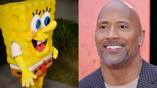 SpongeBob Befriends 'The Rock' Over Their 'Cool' Nicknames