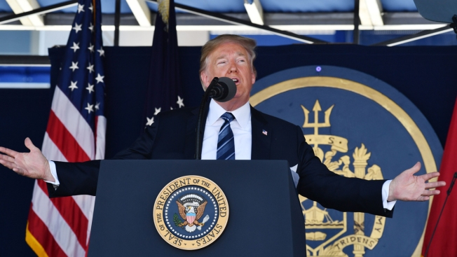 Trump Tells Naval Academy Grads: 'You Will Lead Us Only to Victory'