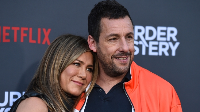 Aniston to Sandler Before Kissing Scenes: 'Oil Up the Beard'