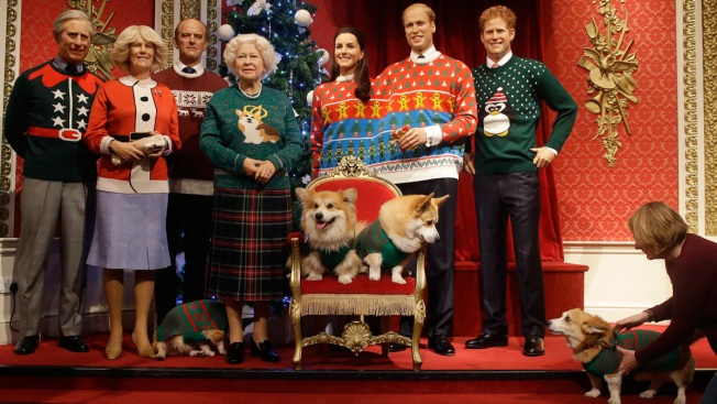 063feb7e1906b5 Royals, They're Just Like Us: 'Royal Family' Dons Ugly Christmas Sweaters  for Charity
