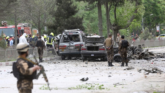 Auto bomb kills eight people near US Embassy in Kabul