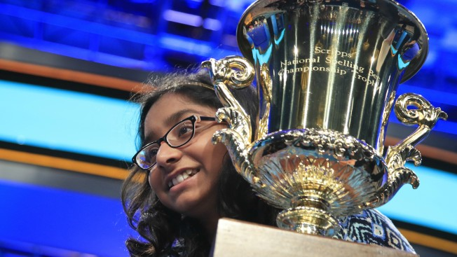 2 mature spellers stand out among 15 left at national bee
