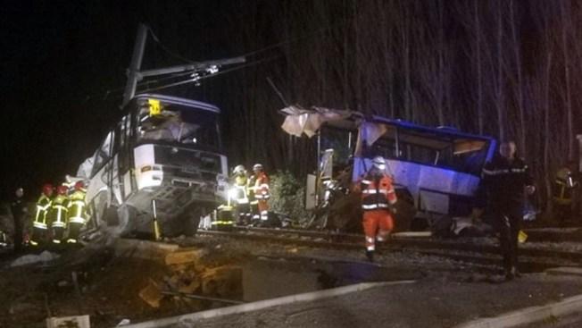 France Rolls Back Death Toll to 4 Kids in School Bus-Train Crash