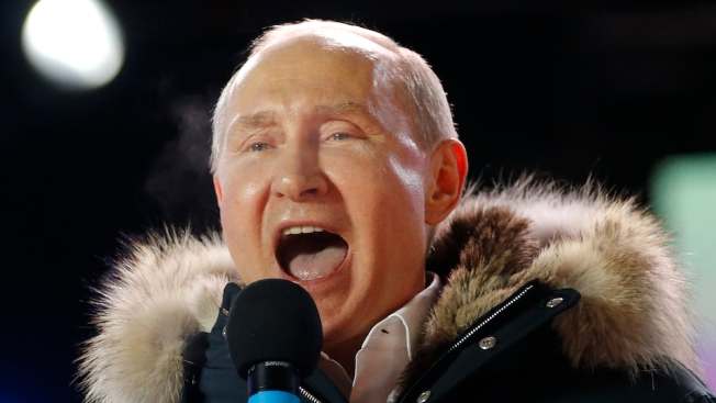 Putin Claims Crushing Victory in Russian Presidential Vote