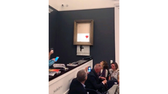 Banksy Posts Video Saying Incomplete Shredding a Malfunction