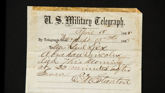 Telegram Announcing Abraham Lincoln's Death Is Up For Sale