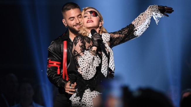 Madonna (and Her Holograms) Wow the 2019 Billboard Music Awards Alongside Maluma