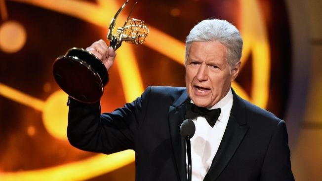 'Jeopardy!' Host Alex Trebek's Emmy Award Comes With Standing Ovation