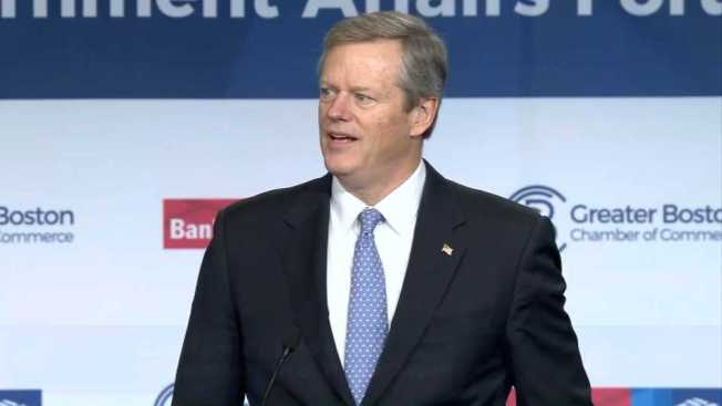 Gov. Charlie Baker Addresses Greater Boston Chamber of Commerce Breakfast